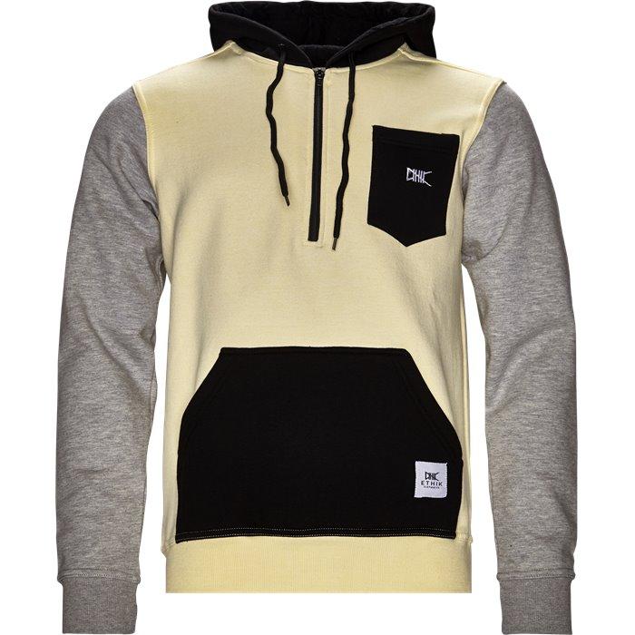 1/2 zip Hoodie - Sweatshirts - Regular - LYS GUL